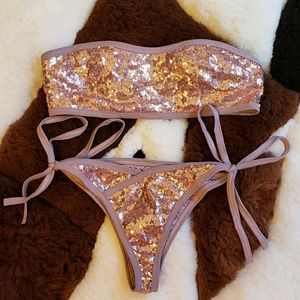 Sequins gold Bikini/Swimsuit